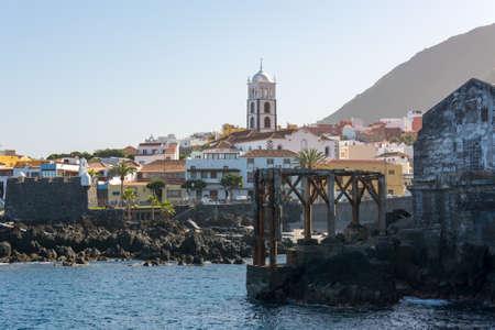 Garachico, Spain - February 6: Traditional coastal town, on February 6 2019 in Garachico, Spain