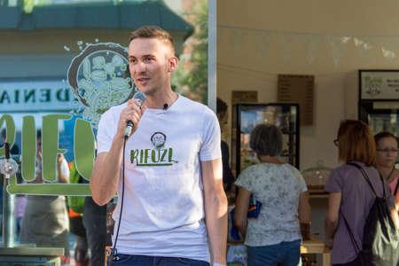 Ljubljana, Slovenia - September 13: Official opening of Zero waste store Rifuzl, on September 13 in Ljubljana, Slovenia