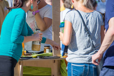 Ljubljana, Slovenia - September 13: Official opening of first Zero waste store Rifuzl, on September 13 in Ljubljana, Slovenia