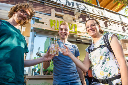 Ljubljana, Slovenia - September 13: Official opening of first Zero waste store Rifuzl, on September 13 in Ljubljana, Slovenia Editorial