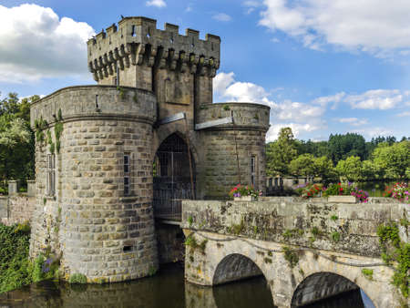 Beautiful drawbridge gates photo