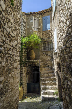 Ambient from old fortified village of Saint Paul, south France, Provence  photo
