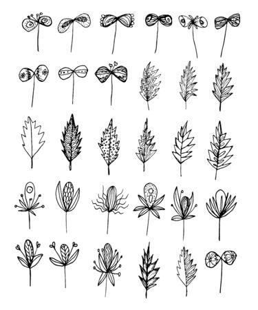 Elements for decoration set vector illustration