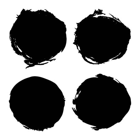 Paint stains round backgrounds vector illustration for design and decoration
