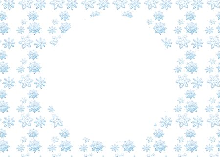 Christmas background with blue snowflakes, isolated on white background, with place for text stock vector illustration for design and decoration.