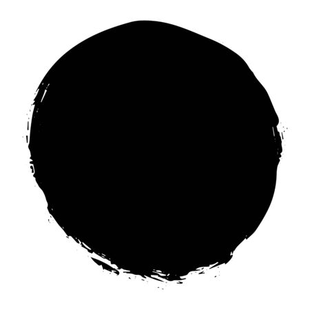 Vector illustration, round stain paint black background, isolated on white background, stock image for design and decoration, packaging, sites, logos