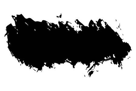 Black stain, brush stroke isolated on white background, vector illustration for design and decor, business cards, logos, sites, packages