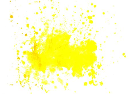 Vector watercolor background yellow color blot isolated on a white background, stock illustration for design and decoration, postcard, banner, template