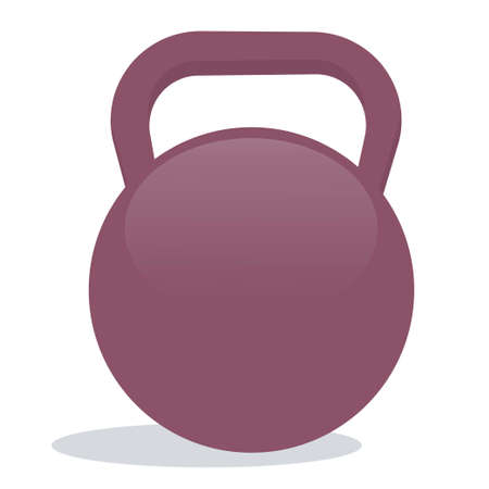A metal weight is isolated on a white background. A tool for sports and fitness. Vector illustration. 向量圖像