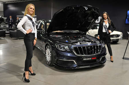 Sexy girls Presentation of a new car, Warsaw Motor Show, 2018 Sajtókép