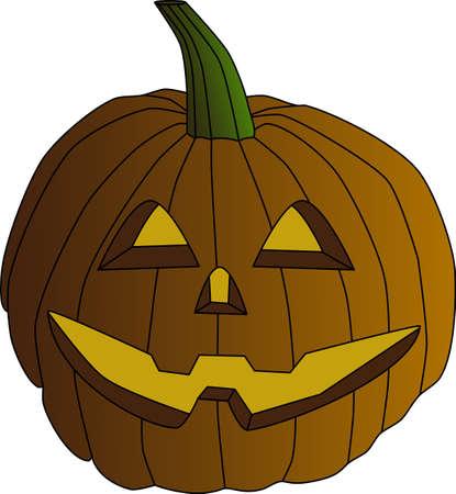 vector illustration of a pumpkin for halloween smiling