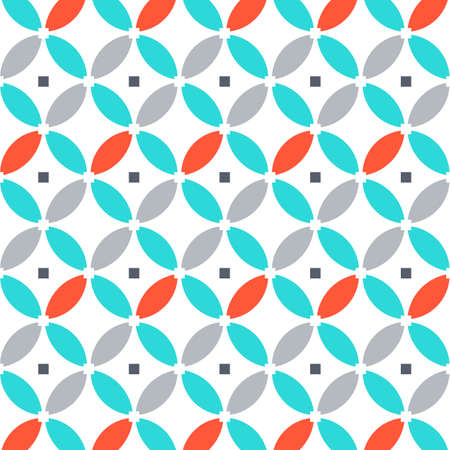 Vector round template pattern.