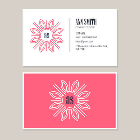 Elegant flower line art logo design with template business card elegant flower line art logo design with template business card for creative directorsual identity reheart Choice Image