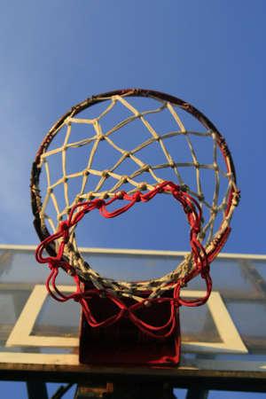 Basketball hook with blue sky Stock Photo - 8816788