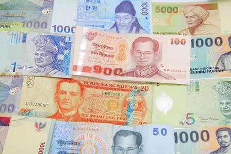 smacker: Asia money bills texture