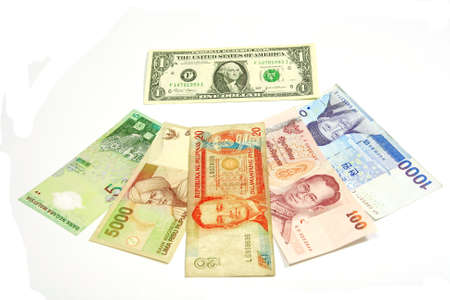 US dollar is center of asian currencies flow. Stock Photo - 8816836