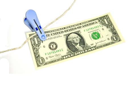 Clip Bank US dollar bill prevent fly. Stock Photo - 8816835