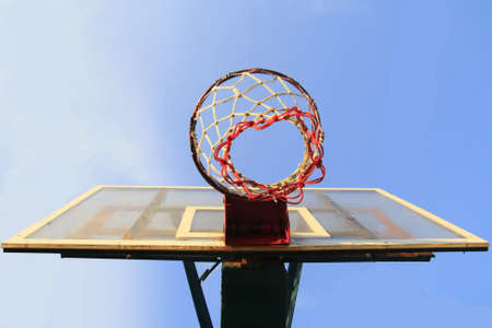 buttom: Basket ball hook buttom view Stock Photo