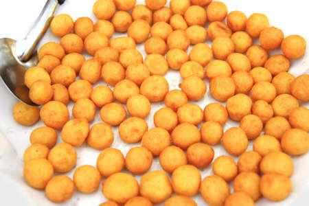 Powder balls fried