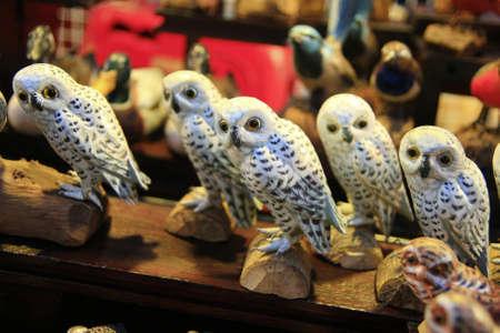 White owl models. photo