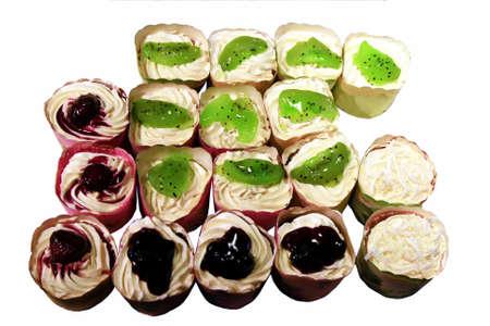 White cupcakes Stock Photo - 9095408