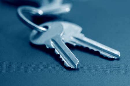 two keys in blue tone photo