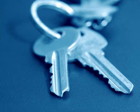two keys in blue tone photo