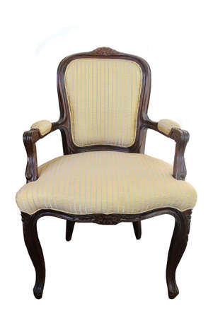 classic wood fabric chair isolated  photo
