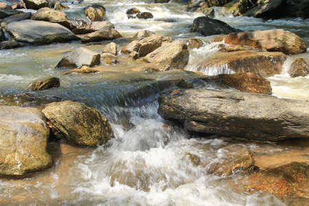 stream with stone  Stock Photo - 21094038