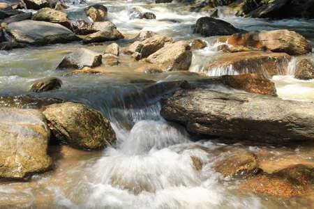stream with stone  Stock Photo - 21094039