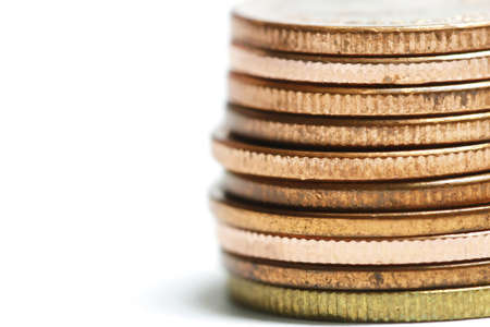 copper coin: copper coin stack Stock Photo