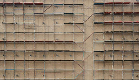 many scaffolding on very large underconstruction site