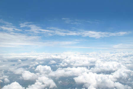 blue ray: blue skyfrom airplane window