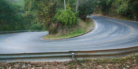 sharp curve road Stock Photo - 21095504