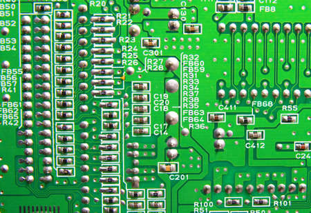 Texture, Green circuit board photo