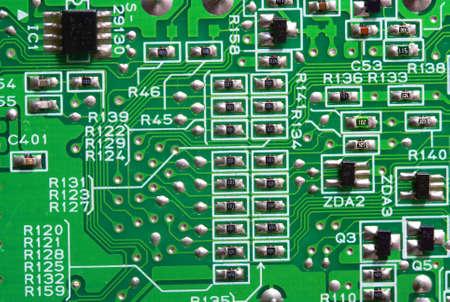Texture, Green circuit board photo
