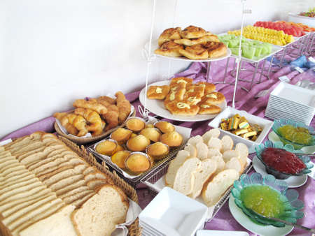 Desserts: breakfast bar  Stock Photo