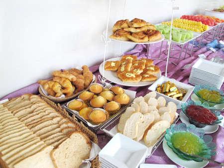 buffet: ontbijttafel