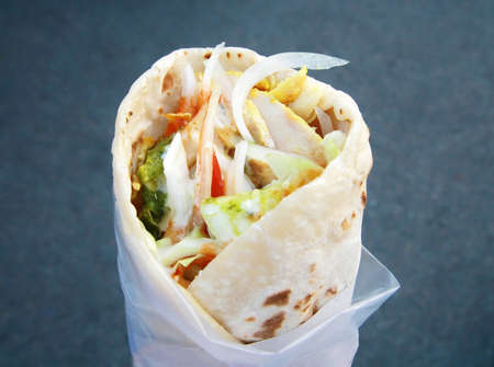Eastern traditional shawarma photo