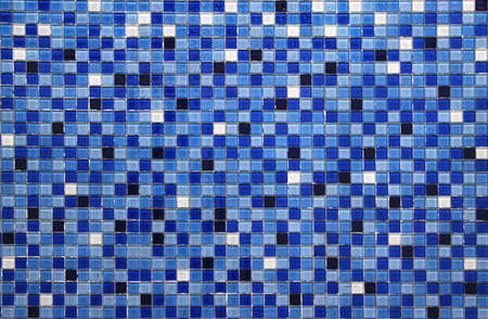 blue small colorful tile background photo