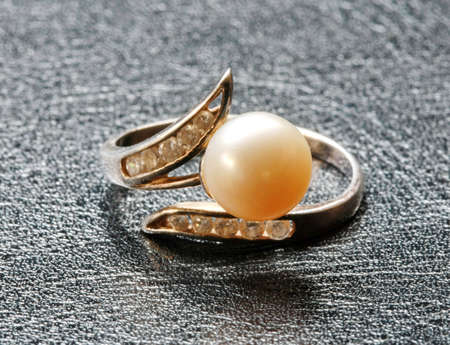 ring with pearl  photo