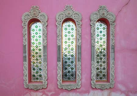 jagmandir: pink temple wall, india