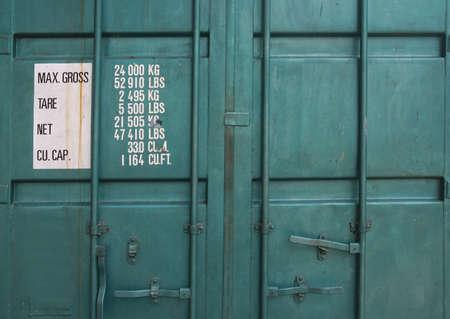 cargo container: door of cargo container box background