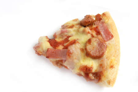 a piece of pizza photo