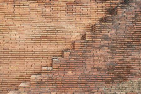 stair on block wall  Standard-Bild