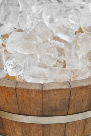 ice in wood pot