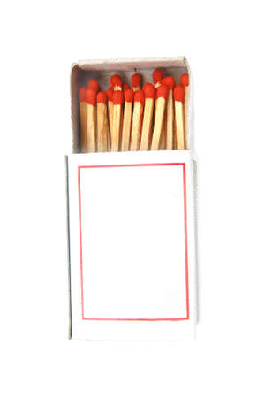match in a box isolated  Stock Photo