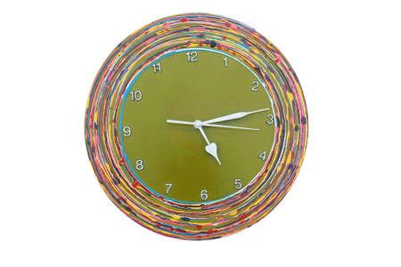 Wood green clock