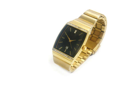 gold watch isolated  photo