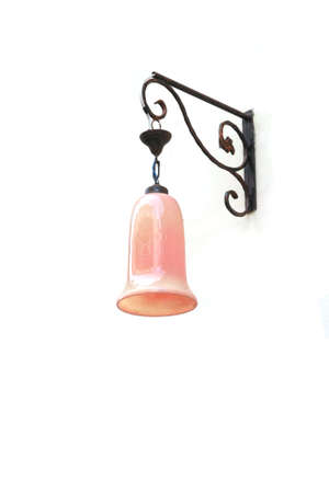 pink classic hang lantern on wall  photo